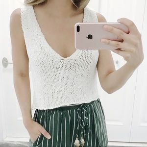• Holly Knit Crop Top •